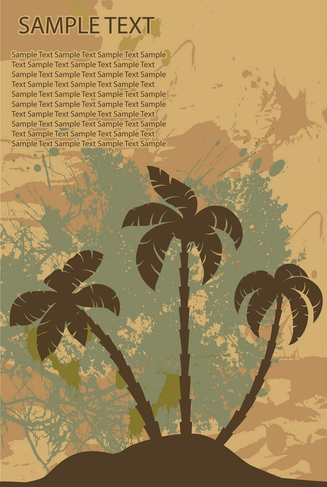 Vintage Summer Background Vector Illustration