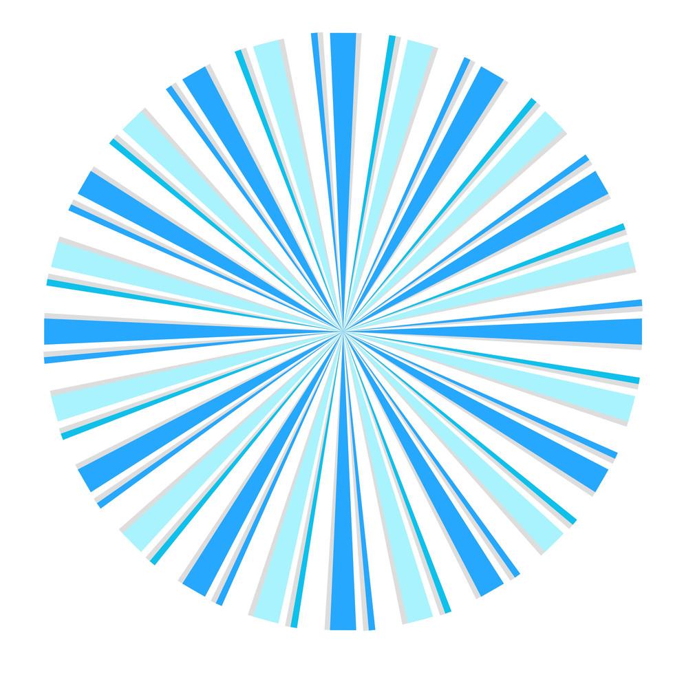 Vintage Sunburst Circle