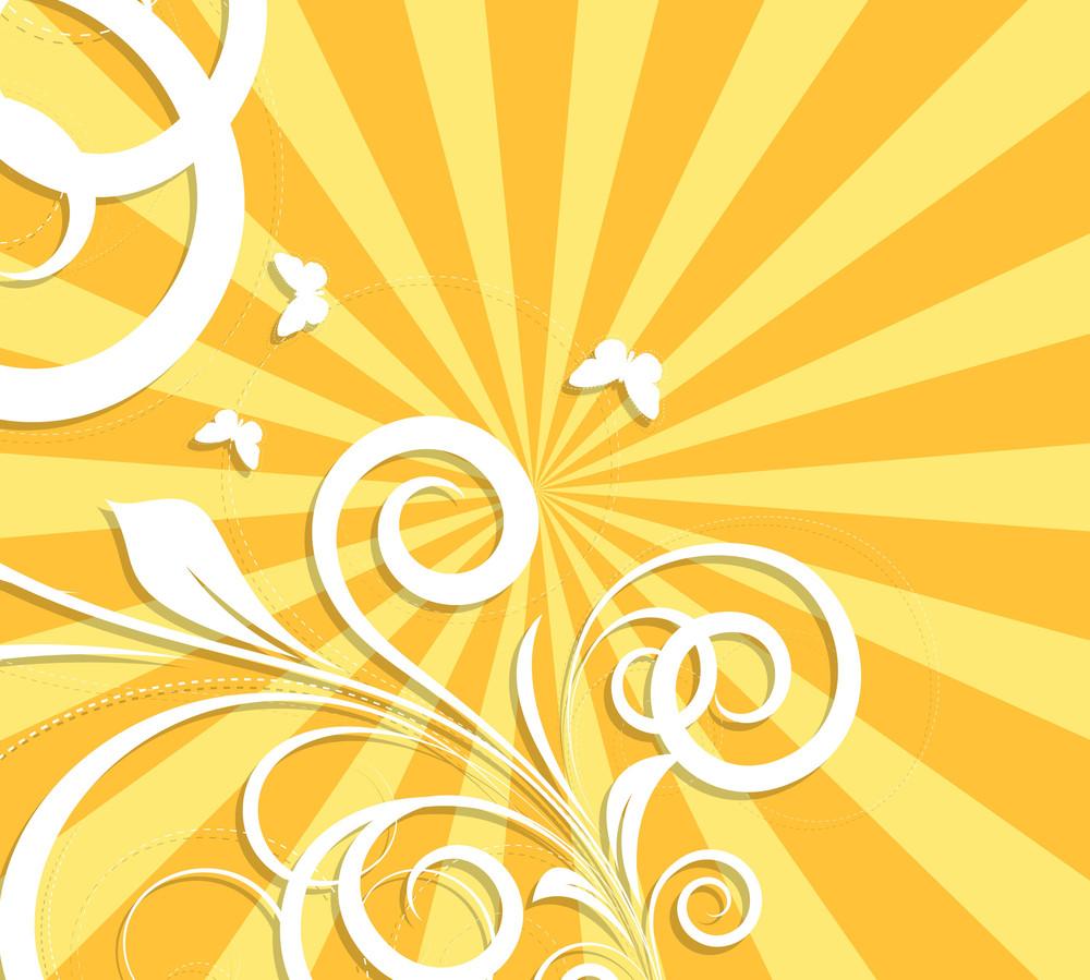 Vintage Swirl Design Background