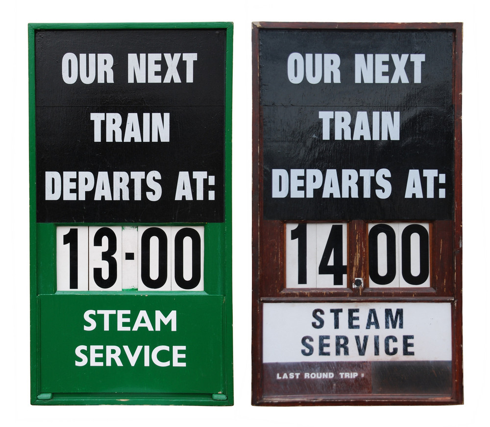 Vintage Train Placards