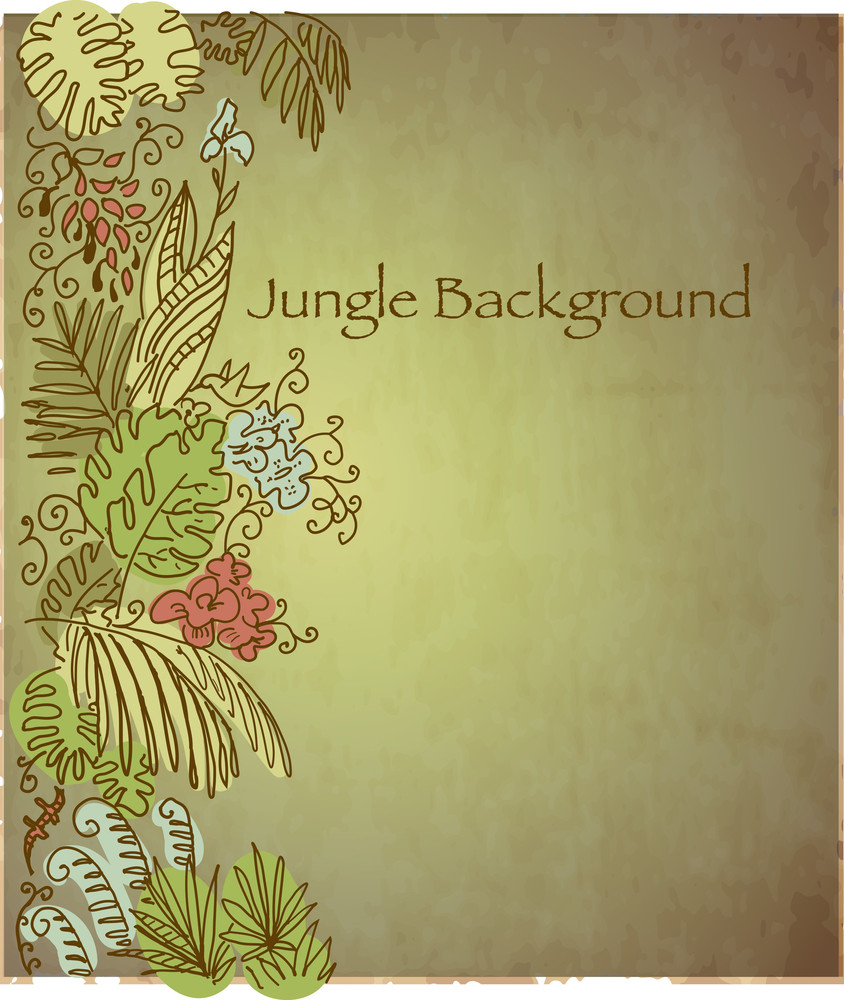 Vintage Tropical Background