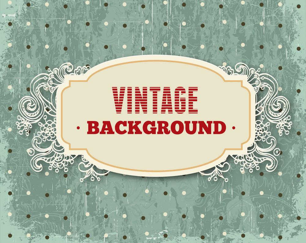 Vintage Vector Illustration With Floral Frame