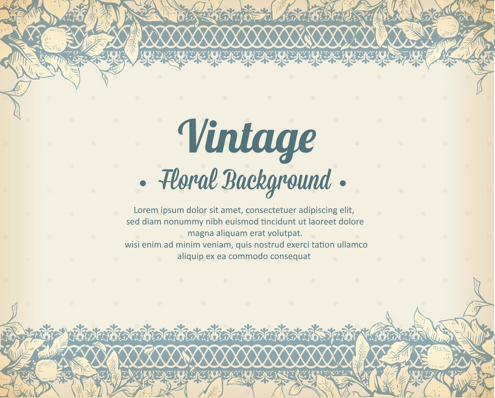 Vintage Vector Illustration With Spring Flowers