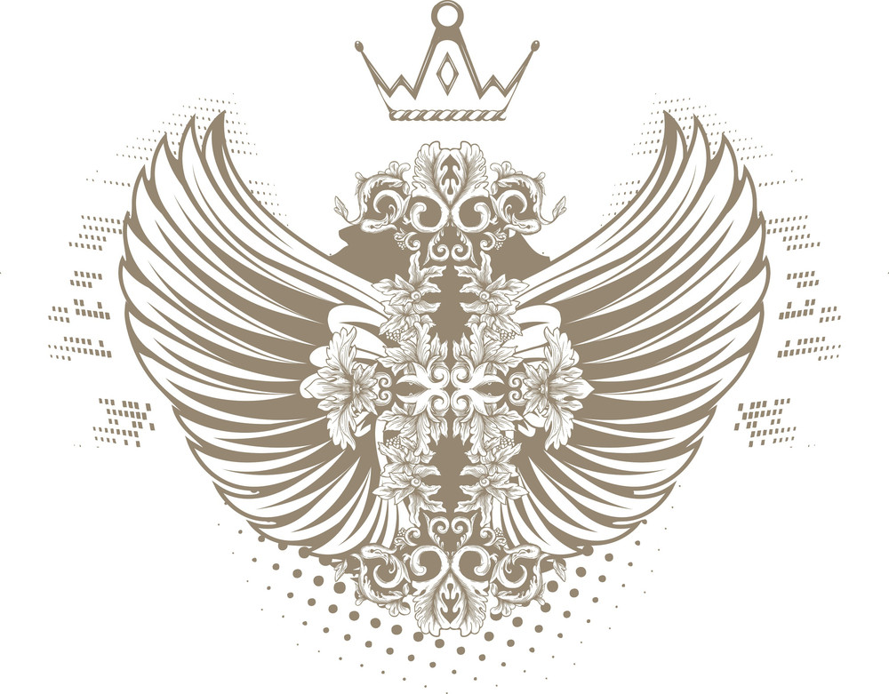 Vintage Vector T-shirt Design With Wings