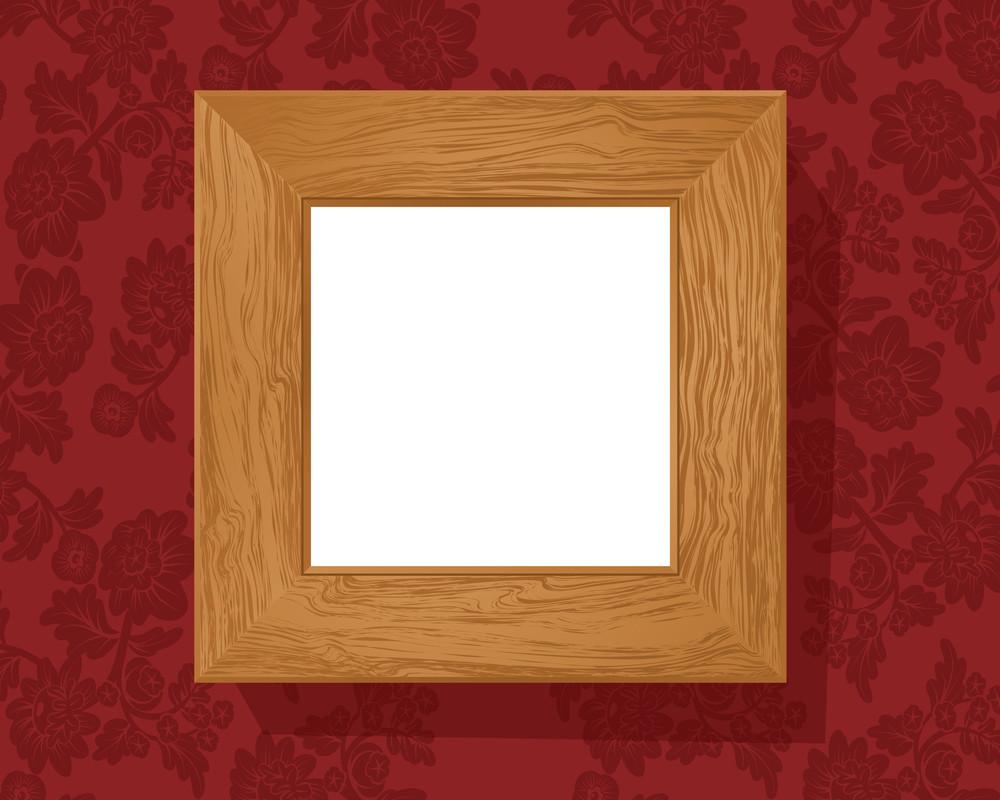 Vintage Wooden Frame. Vector.