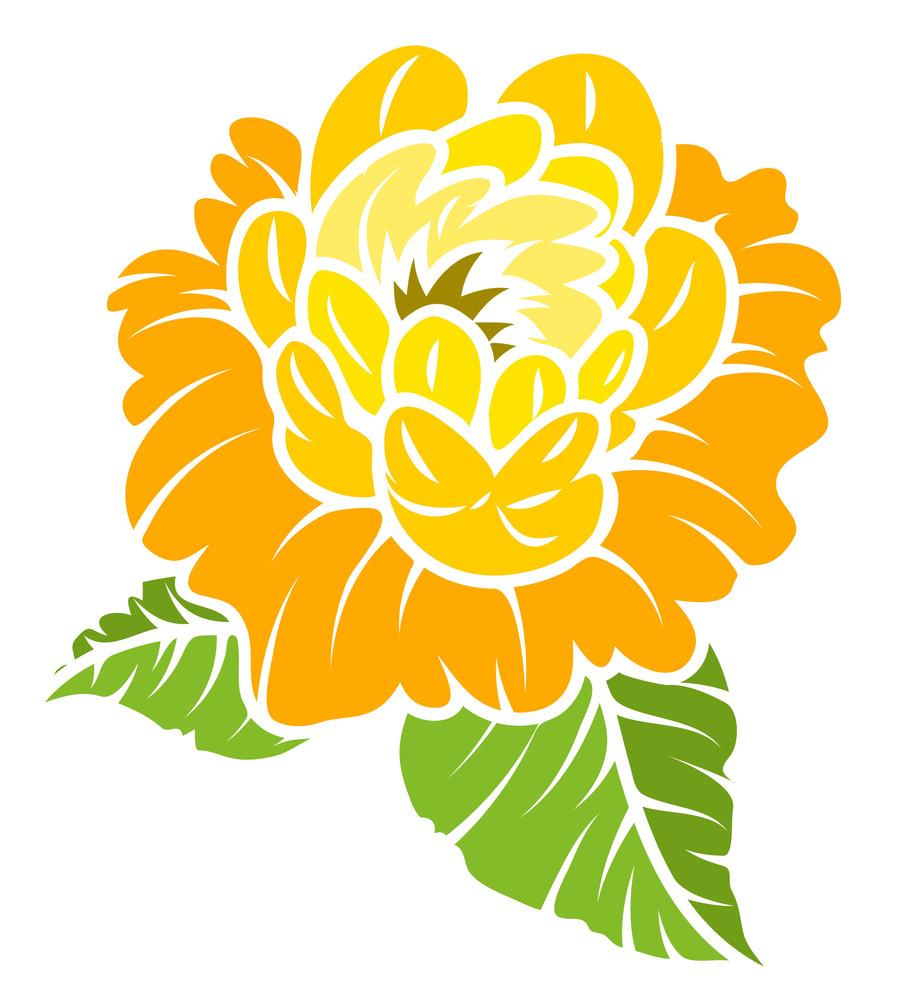 Vintage Yellow Rose