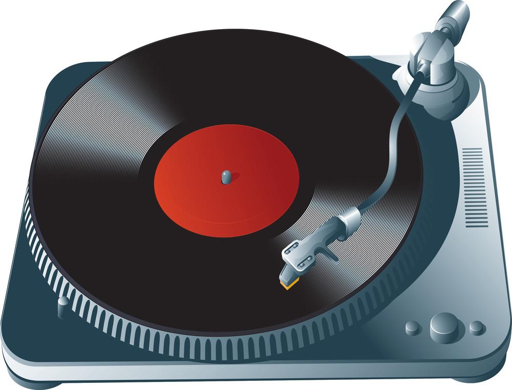 Vinyl Player. Vector