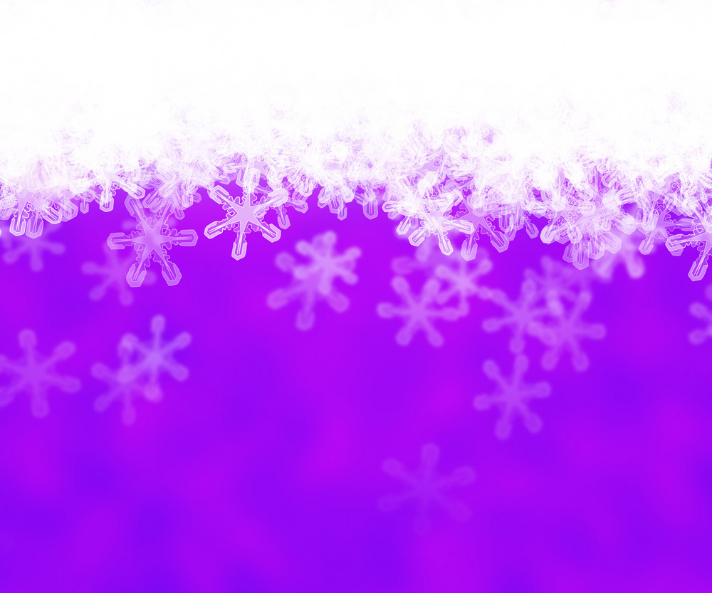 Violet Abstract Snow Background