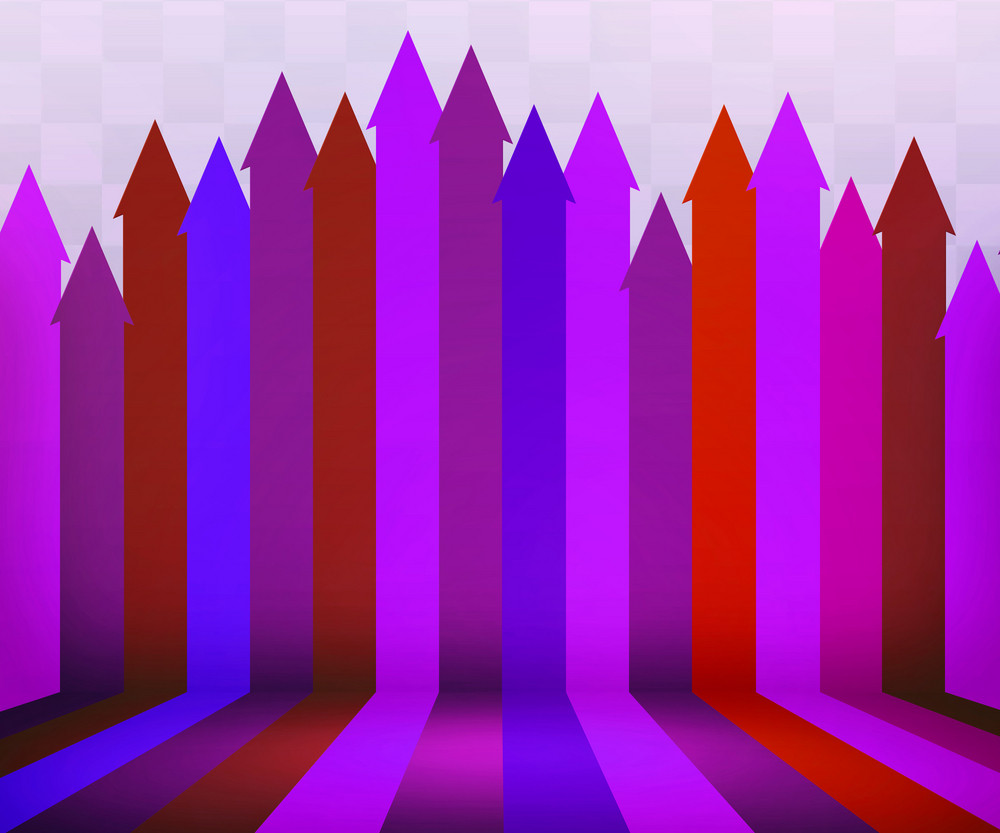 Violet Arrows Stage Background