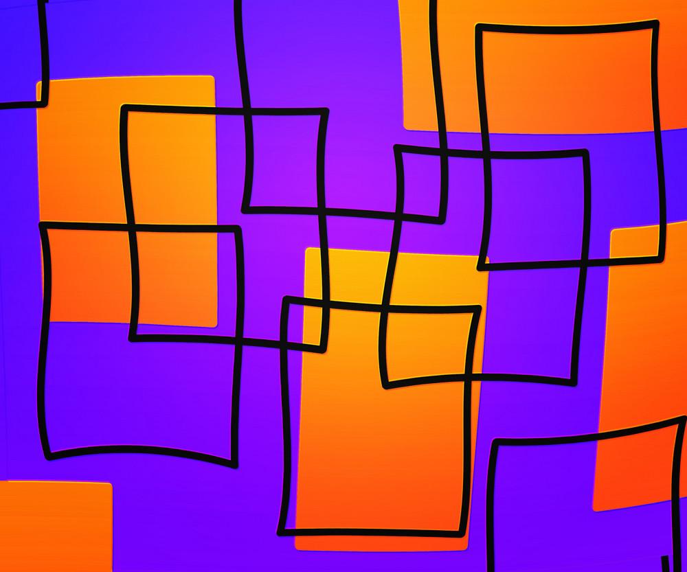 Violet Artistic Squares Background