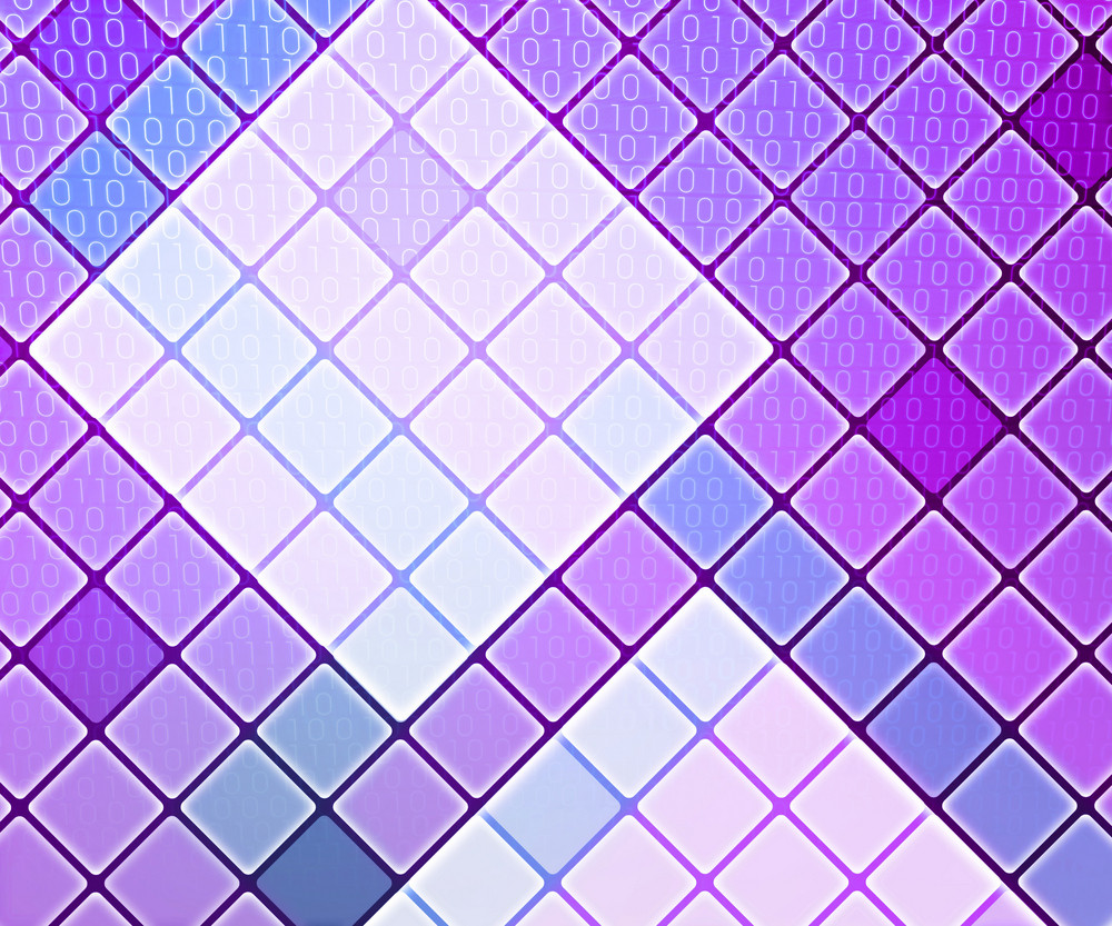 Violet Binary Data Background