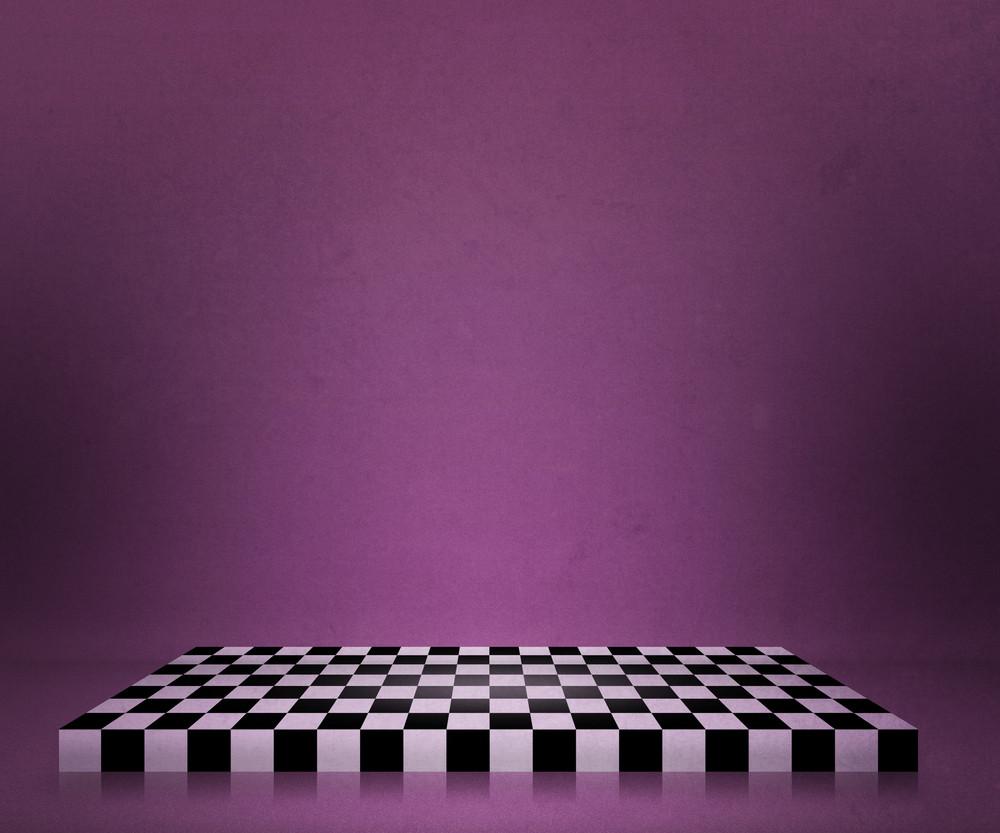 Violet Chessboard Stage Backdrop