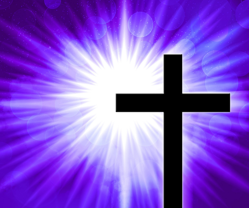 Violet Christian Cross Background
