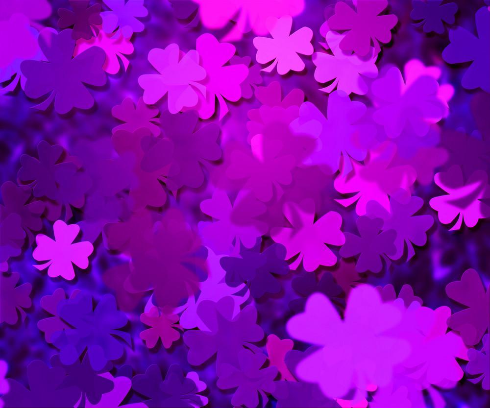 Violet Clover Texture Background