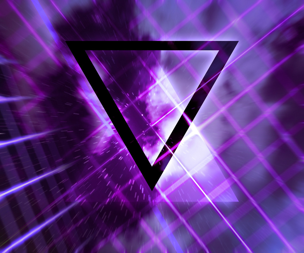 Violet Daft Punk Abstract Background