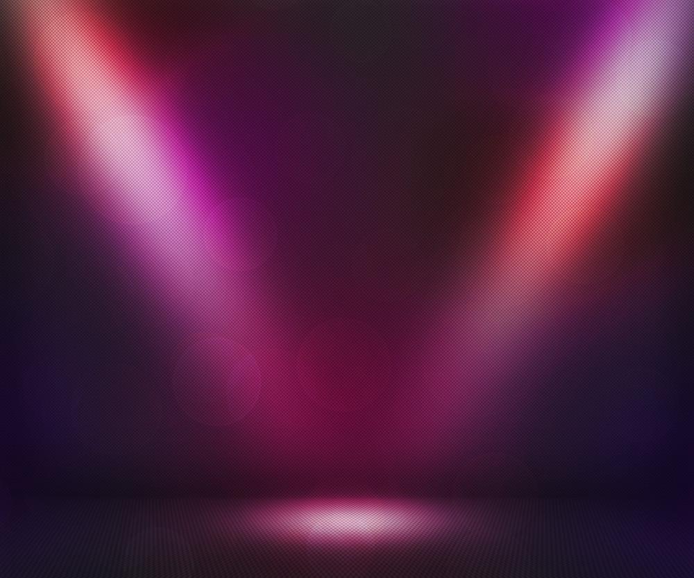 Violet Dark Spotlights Room