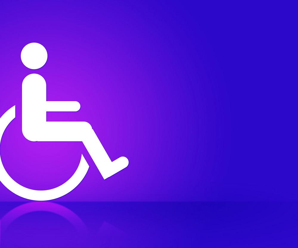 Violet Disability Background