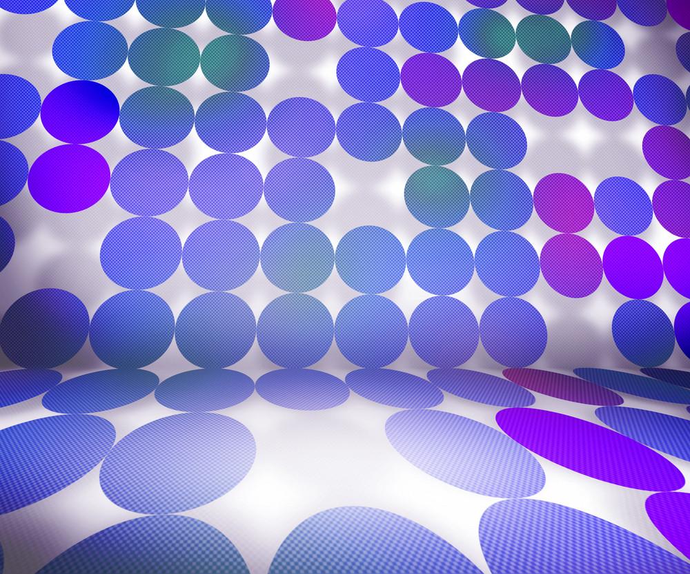 Violet Dots Stage Background