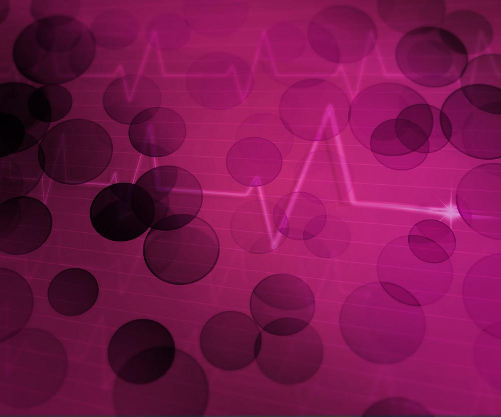 Violet Ekg Medical Background