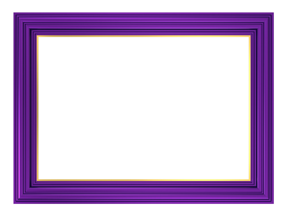 Violet Frame Isolated On White Background.