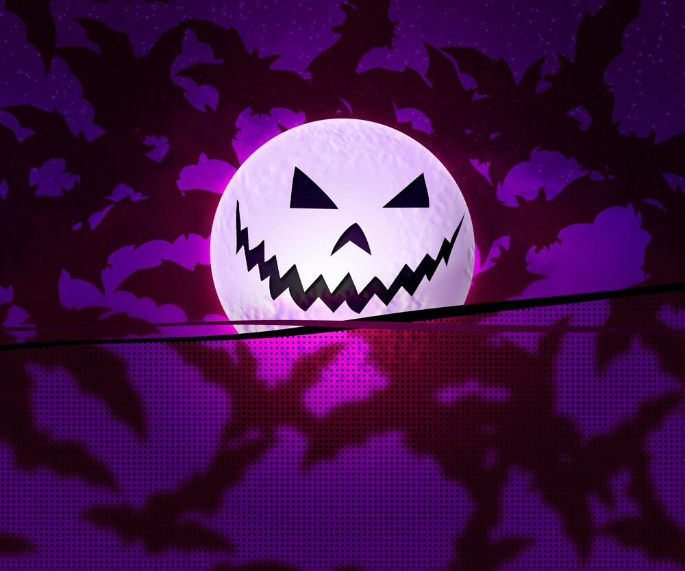 Violet Halloween Background