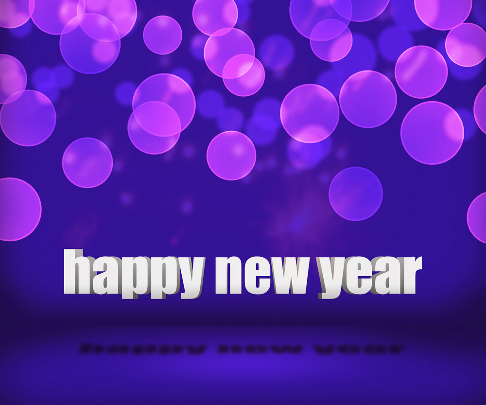 Violet Happy New Year Background Stage