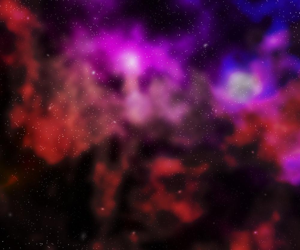 Violet Nebula Outer Space Backdrop