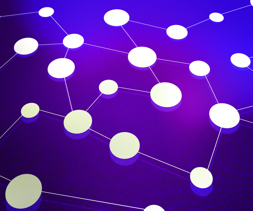 Violet Network Background