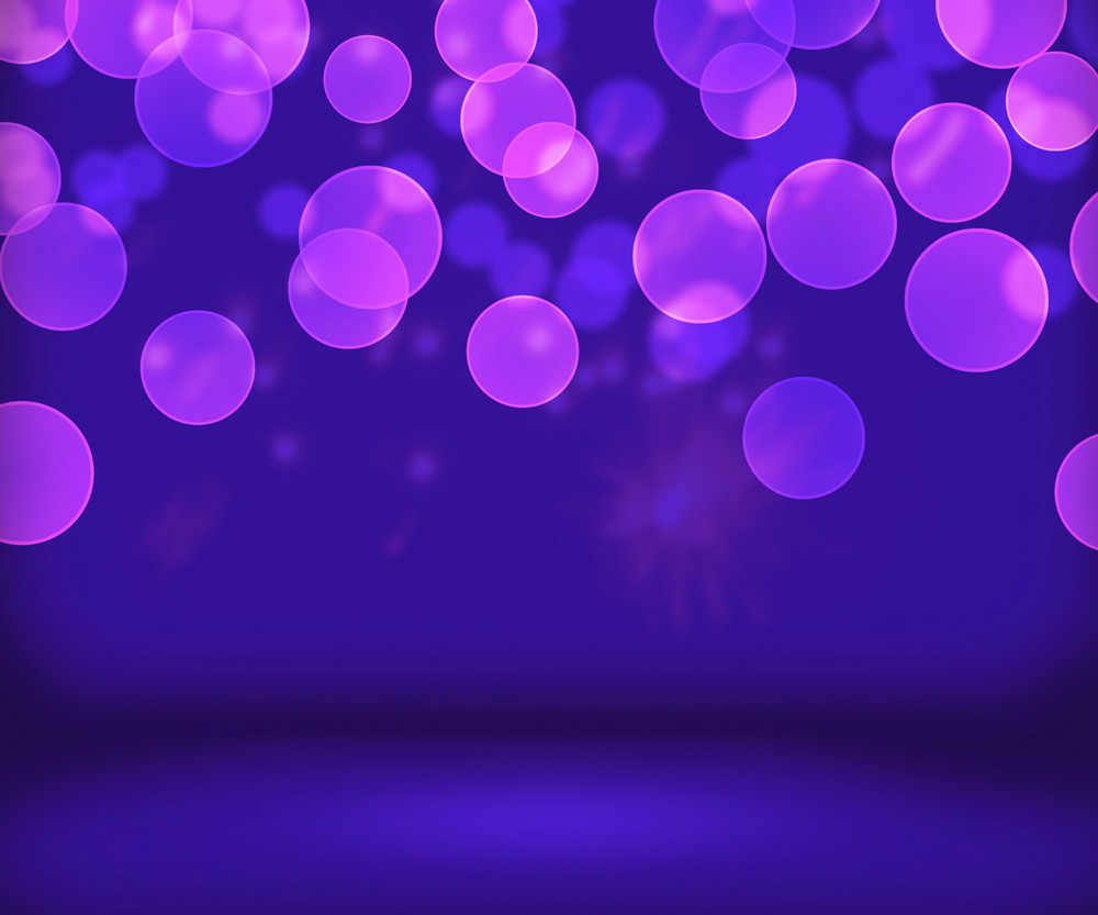 Violet New Year Background Stage