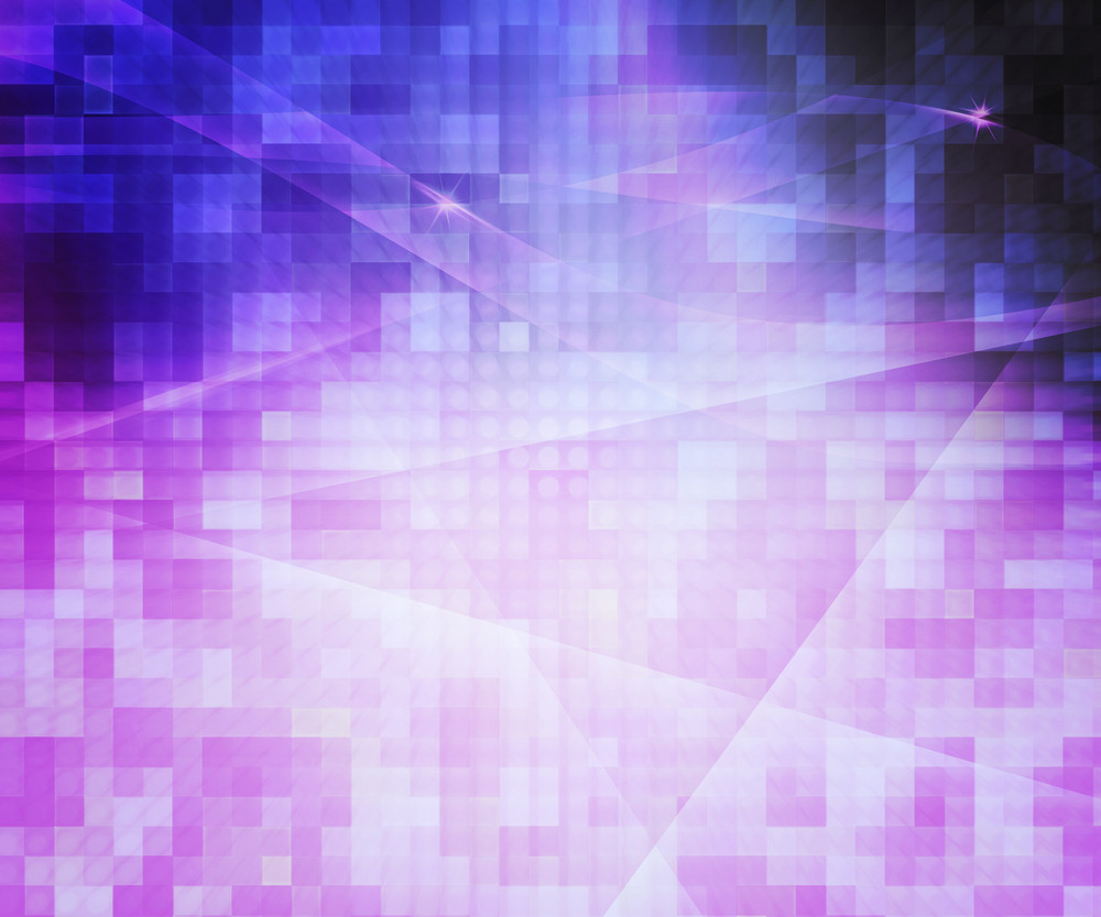 Violet Pixels Abstract Background