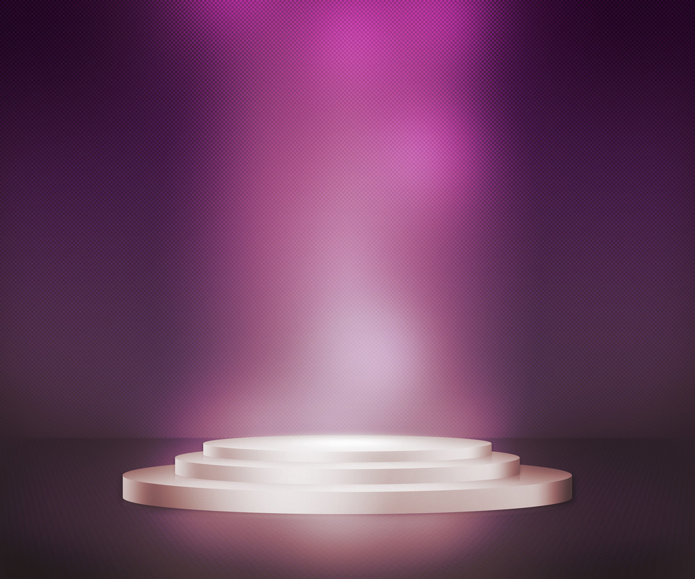 Violet Podium Spotlight Background