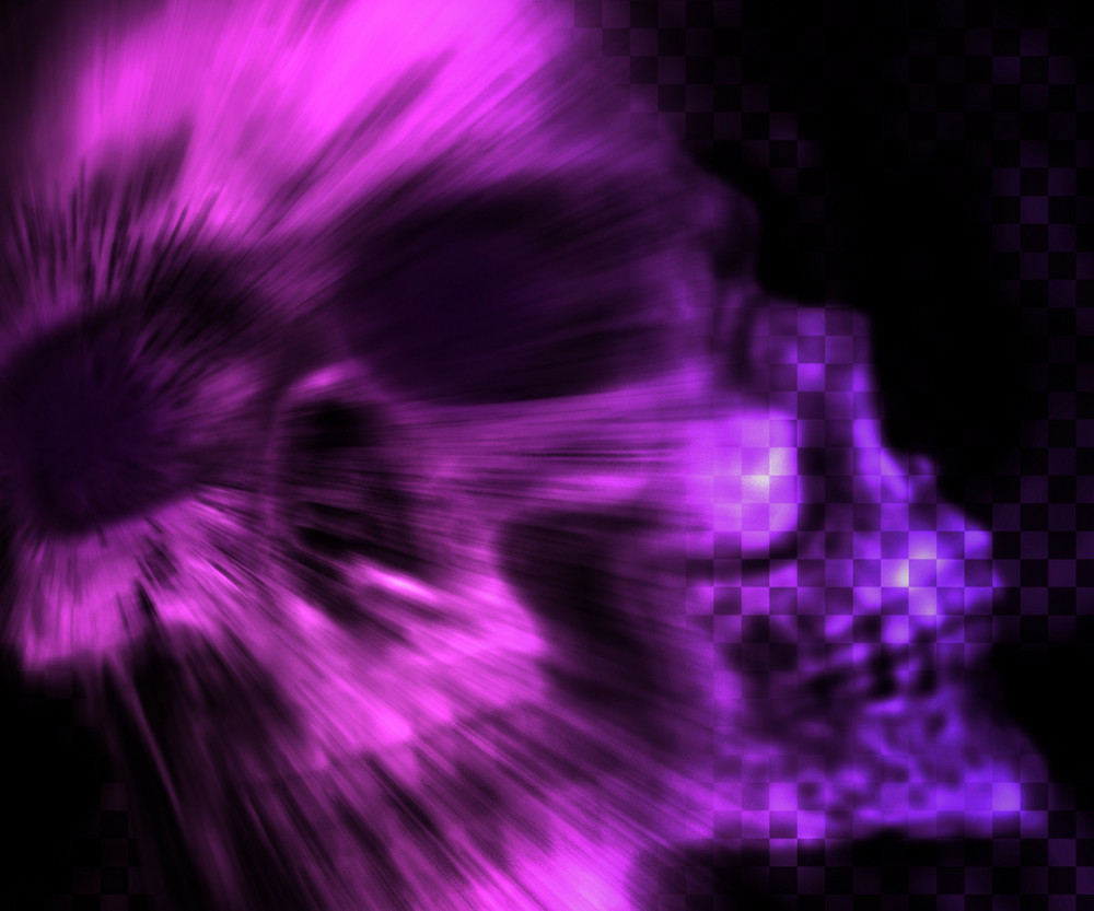 Violet Skull Scary Background