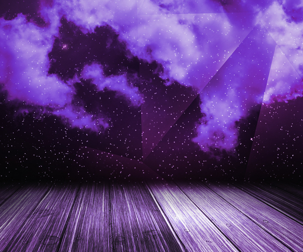 Violet Sky Abstract Stage Background