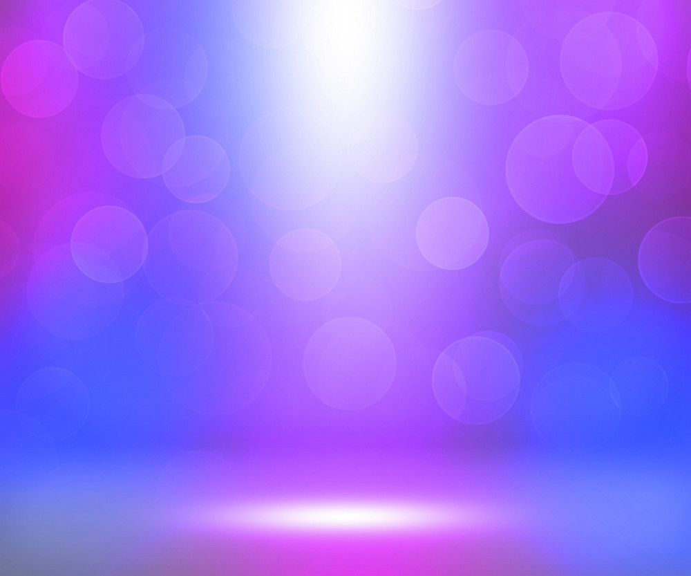 Violet Soft Spotlights Room