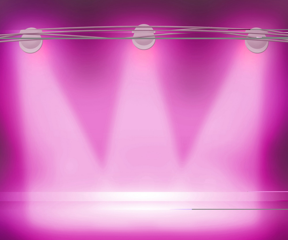 Violet Spotlights Background