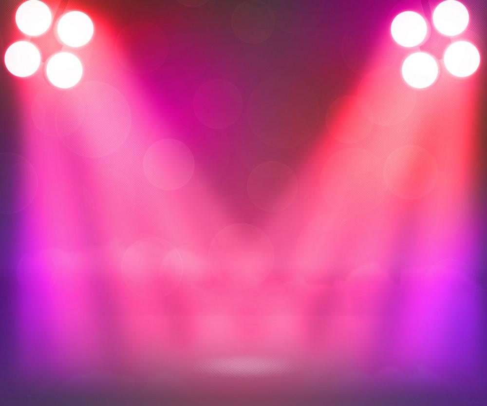 Violet Spotlights Stage Background