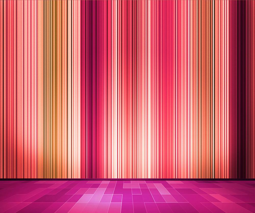 Violet Vintage Retro Lines Wallpaper Interior