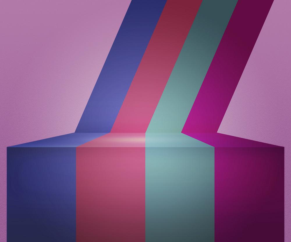 Violet Vintage Stripes Stage Background