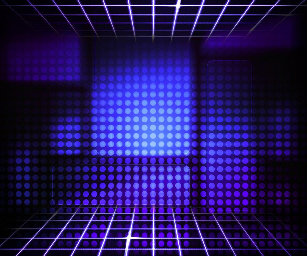 Violet Virtual Technology Concept Background