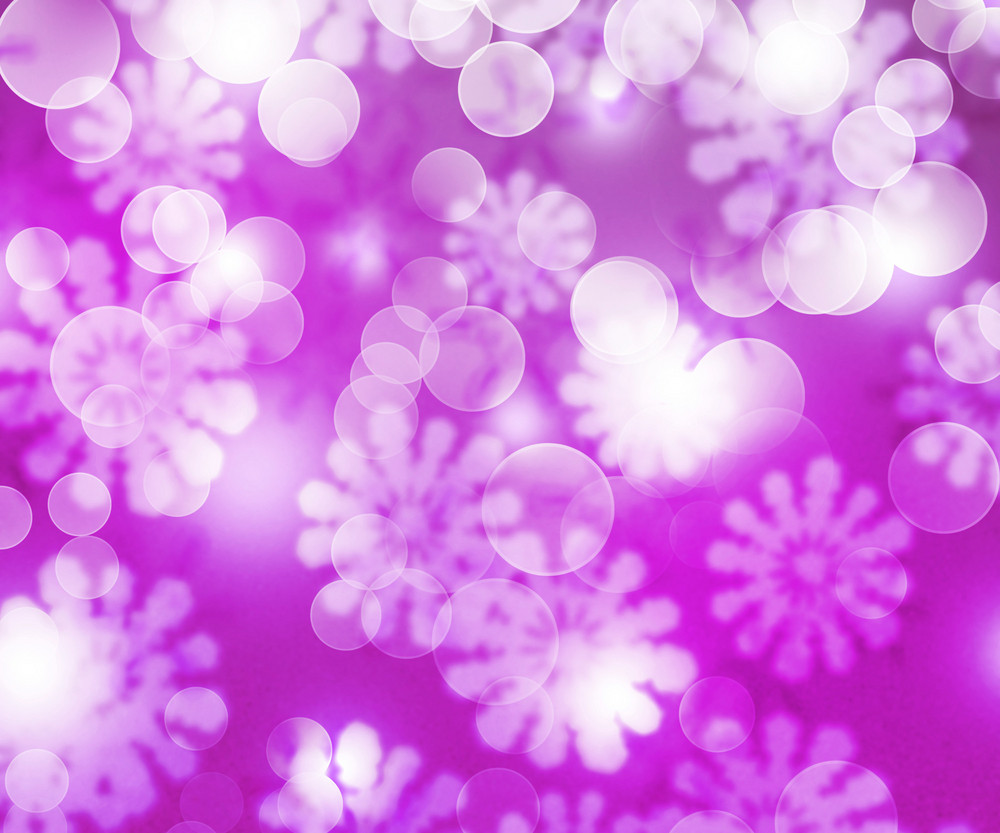 Violet Winter Bokeh Background