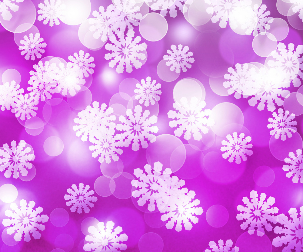 Violet Winter Bokeh Background
