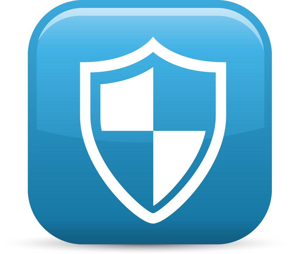 Virus Protection Shield Elements Glossy Icon