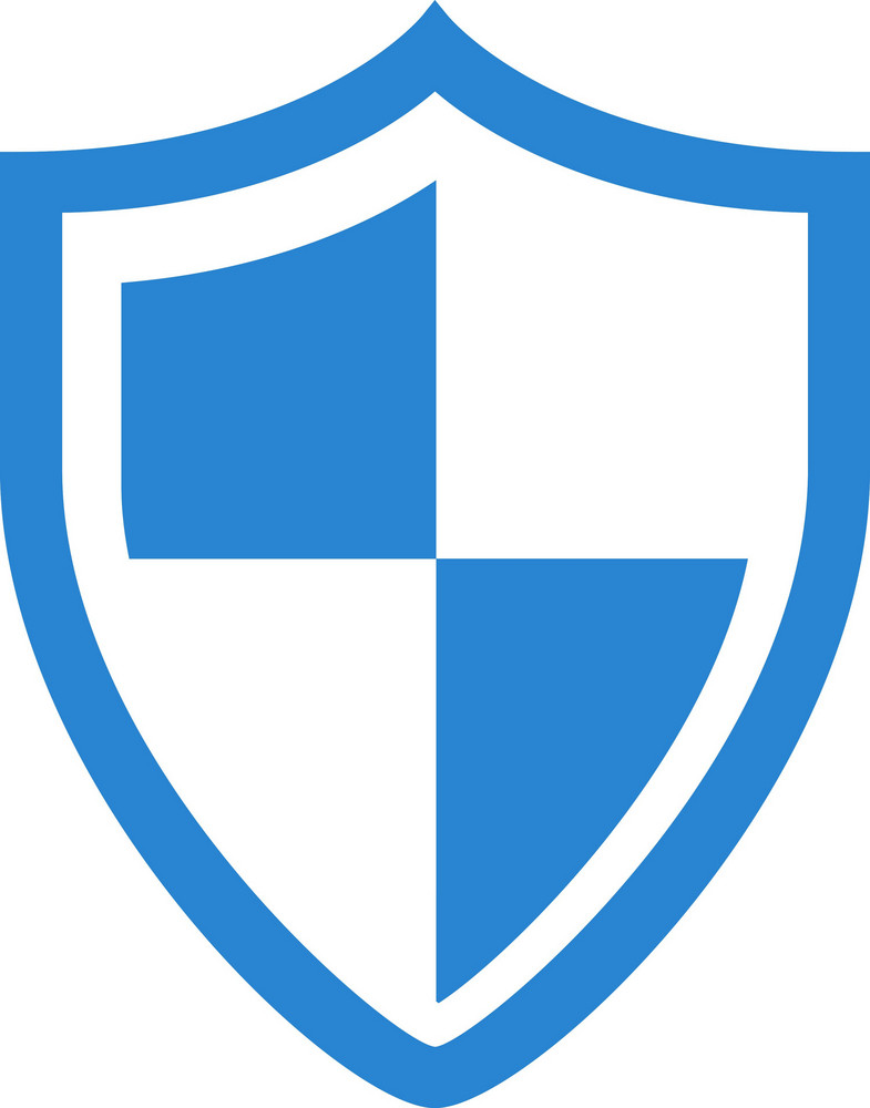 Virus Protection Shield Simplicity Icon