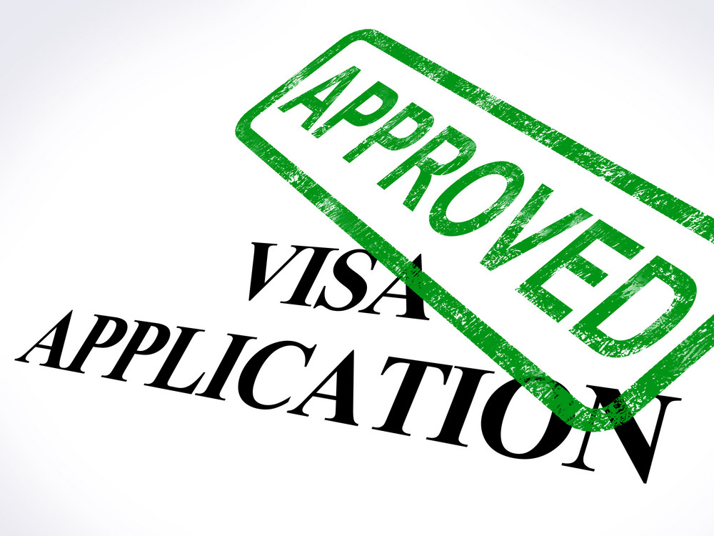 Visa Application Approved Stamp Shows Entry Admission Authorized