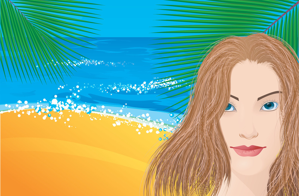 Vocation Tropic Background. Vector.