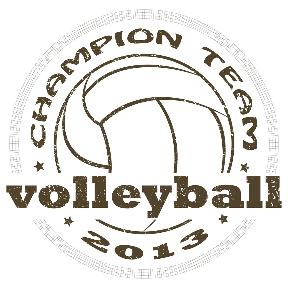 Volleyball Label