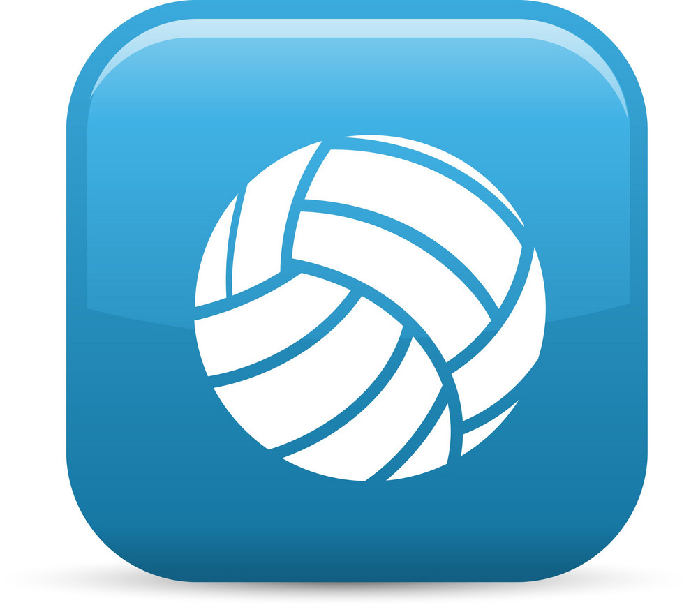 Volleyball Sport Elements Glossy Icon
