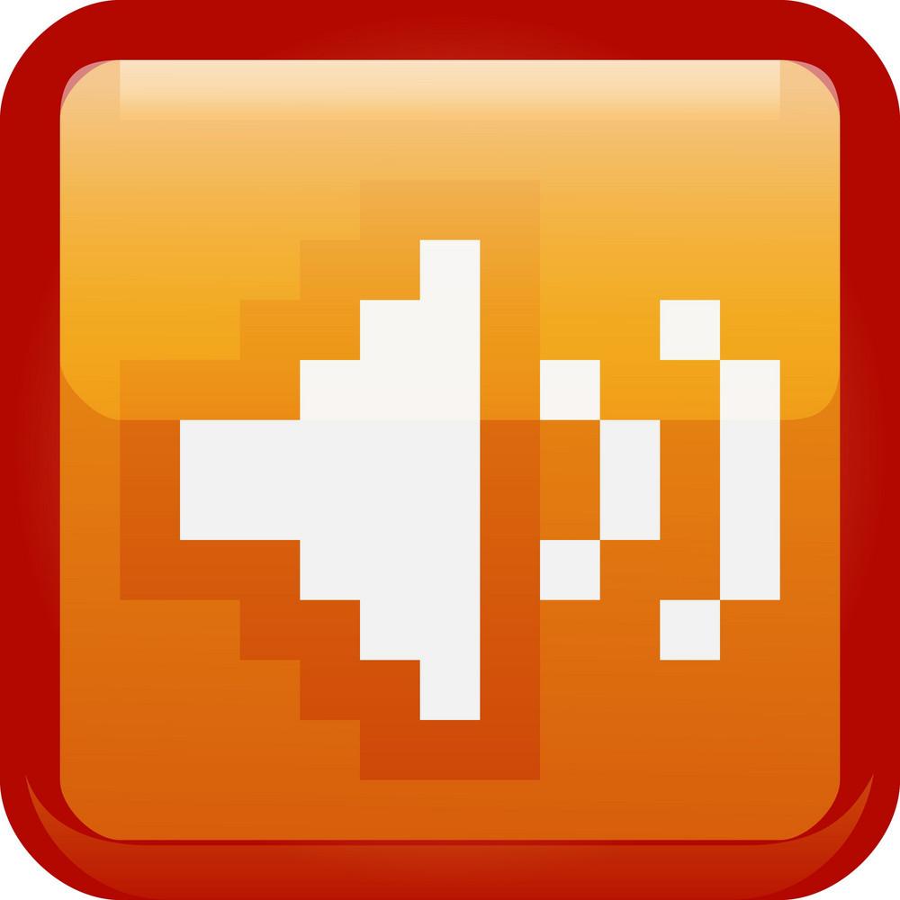 Volume Up Orange Tiny App Icon