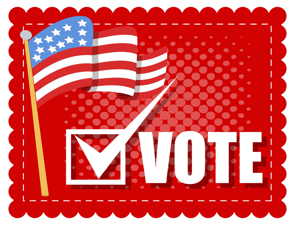 Vote Banner  Election Day Vector Illustration