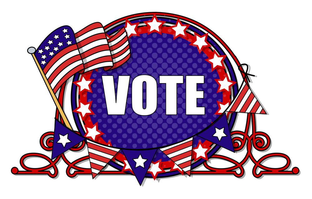 Vote  Election Day Vector Illustration